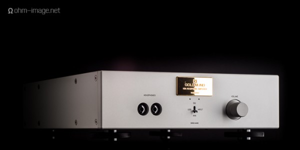 Goldmund Headphone Amplifier face